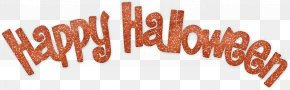 Happy Halloween Text Transparent - Halloween Costume Sewing Clip Art PNG