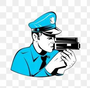 Free To Pull The Material Police Image - Police Officer Traffic Enforcement Camera Cartoon Royalty-free PNG