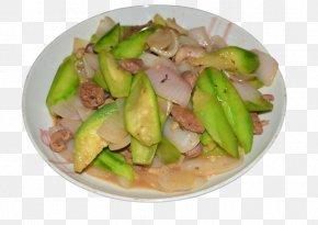 Luffa Fried Chicken Miscellaneous - Twice Cooked Pork Fried Chicken Japchae Vegetarian Cuisine Luffa PNG