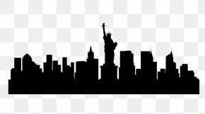 Skyline New York - New York City Skyline Silhouette Illustration PNG