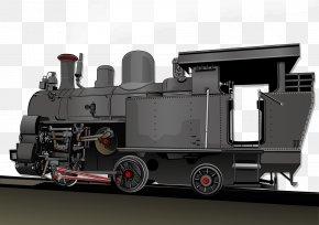 Steam Train Illustration - Steam Engine Train Industrial Revolution Locomotive Transport PNG