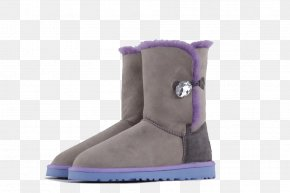 Gray Hit Color Snow Boots - Snow Boot Shoe Slipper Winter PNG