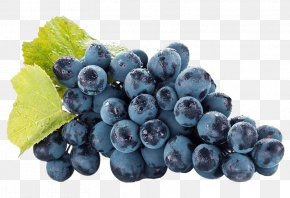 A String Of Purple Grapes - Violet Grape Auglis Antioxidant Anthocyanin PNG
