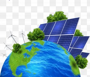 Blue Earth - Renewable Energy Solar Energy Solar Power Photovoltaic System Energy Conservation PNG