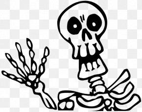 Skeleton - Skeleton Drawing Halloween Clip Art PNG