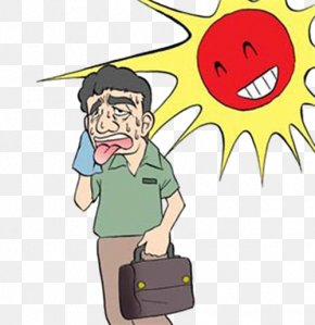 Hot Weather - Weather Temperature Cartoon PNG
