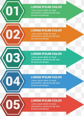 Vector Hand-painted Arrow Labels - Chart Infographic Diagram Information PNG