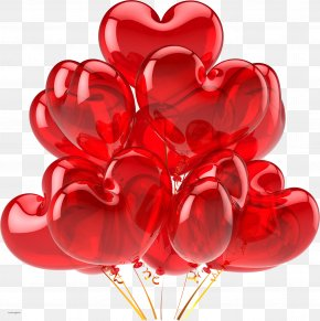 Red Balloon Image, Free Download - Balloon Heart Clip Art PNG