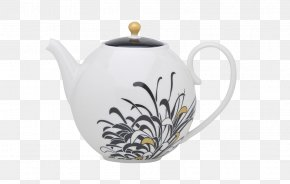 Chinese Chrysanthemum Stamped Teapot - Earl Grey Tea Kettle Teapot Porcelain PNG