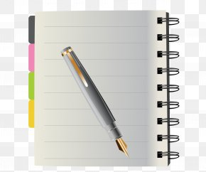 Hoop Notebook - Notebook Pen Stationery Clip Art PNG