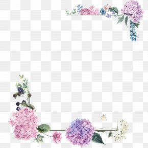 Purple Blossom Borders - Flower Bouquet Floral Design PNG