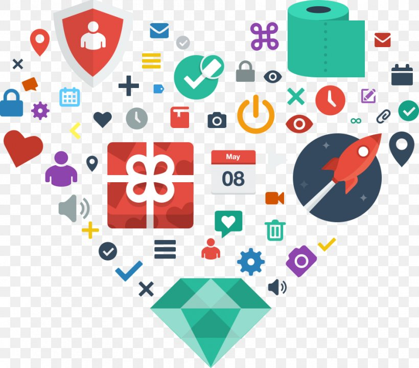Flat Design Icon Design User Interface Design, PNG, 944x828px, Flat Design, Area, Bootstrap, Brand, Heart Download Free