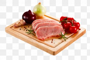 Lean Meat On The Chopping Block - Meat Beef Cutting Board Veal PNG
