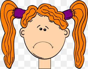 Sad Cliparts - Long Hair Blond Clip Art PNG