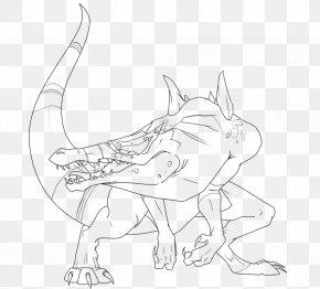 Chicken Little - Line Art Carnivora Drawing White Cartoon PNG