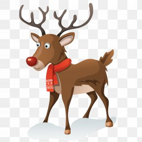 Eland - Rudolph Reindeer Santa Claus Christmas Day Vector Graphics PNG