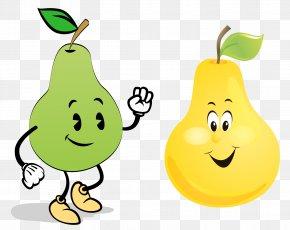 Cartoon Hand Painted Man Pear - Water Tank Drawing Pear PNG