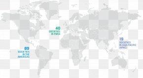 World Map - World Map Alu-Dibond-Kupfereffekt »Weltkarte 01« Water PNG