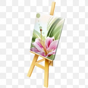 Easel Watercolor Painting PNG