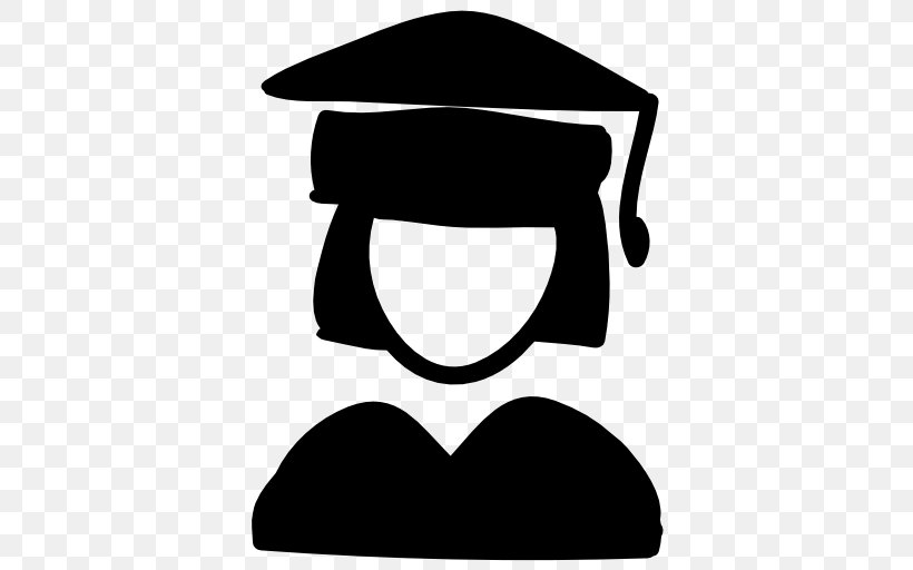 Graduation Ceremony Education Student, PNG, 512x512px, Graduation Ceremony, Artwork, Black, Black And White, Diploma Download Free