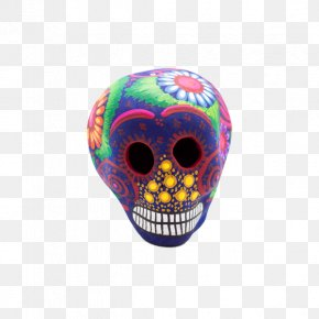 Mexican Hand-painted Banner Image Skull Download - Skull Calavera Day Of The Dead Mexico Mexican Cuisine PNG