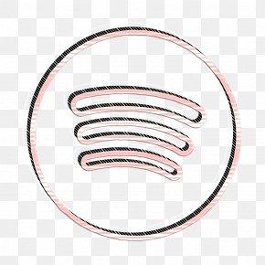 Spotify Icon Social Icon - Circles Icon Line Icon Neon Icon PNG