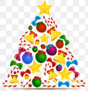 Vector Cartoon Christmas Star Ball Crutch - Candy Cane Christmas Tree Drawing PNG