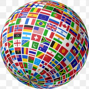 WORLD - Globe Flags Of The World Country PNG