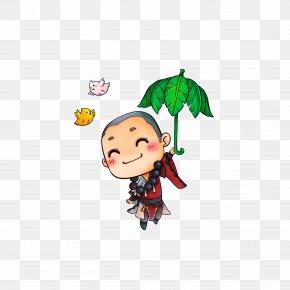 A Little Monk Holding A Tree Umbrella - Shaolin Monastery Oshō Zen Shaolin Sect Samanera PNG