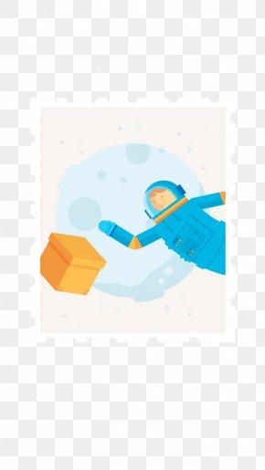 Astronaut Stamp - Flat Design Splash Screen User Interface Illustration PNG