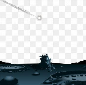 Vector Painted Surface Of The Moon - Euclidean Vector PNG