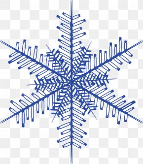Hand Painted Blue Snowflake - Snowflake Download Euclidean Vector PNG