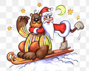 Santa - New Year Santa Claus Drawing Christmas Reindeer PNG