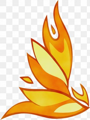 Flame Plant - Orange PNG