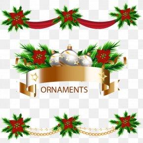 Holiday Decorative Ribbons - Christmas Clip Art PNG
