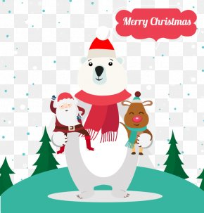 Christmas Polar Bear - Polar Bear, Polar Bear, What Do You Hear? Santa Claus PNG