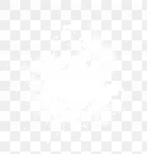 White Explosion Dust - Black And White Point Angle Pattern PNG