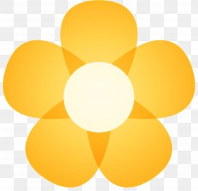 Yellow Flower Vector - Circle Geometry Euclidean Vector PNG