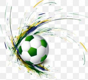 Football - Brazil Vector Graphics Football 2014 FIFA World Cup PNG
