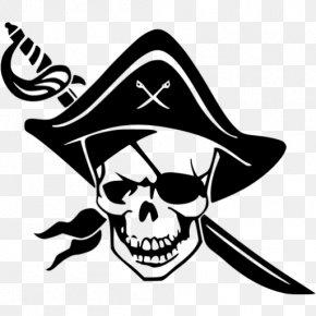 Skull - Skull And Crossbones Piracy Jolly Roger Clip Art PNG