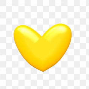 Yellow Heart Image - Yellow Heart Wallpaper PNG