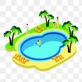 Nice Swimming Pool - Swimming Pool Cartoon PNG