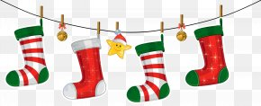 Transparent Christmas Stockings Decoration Clipart - Christmas Decoration Christmas Ornament Santa Claus Clip Art PNG