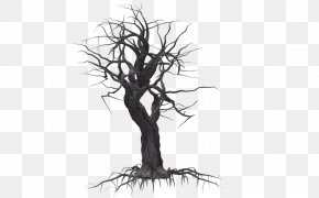 Creepy Tree - Tree Drawing Plant Clip Art PNG