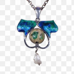 Necklace - Turquoise Ruby Lane Locket Necklace Jewellery PNG