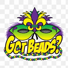 Mardi Gras - Mardi Gras In New Orleans Wedding Invitation Bead Clip Art PNG