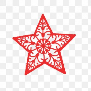 Red Five-pointed Star Pattern - Red Blue Star White Clip Art PNG