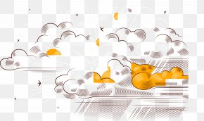 Vector Painted Clouds - Euclidean Vector Cloud Rain PNG
