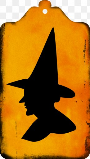 Flying Witch Silhouette - Halloween Costume Witchcraft Witch Hat Clip Art PNG