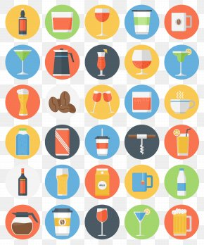 Glass Bottle Vector Icons - Flat Design Icon PNG